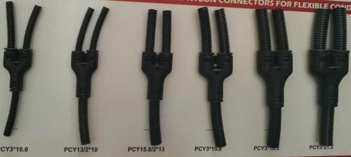 3 Way Y Shaped Nylon Connectors For Polyamide/ Nylon Flexible Conduits