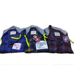 Cotton Kids Checked Shirt with Hoodie