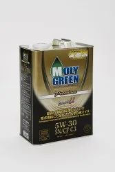 Molygreen Cars Car Engine Oil, Packaging Type: Steel can 4 ltr, Grade: 5w30 Sn/Cf C3 Fully Synthetic
