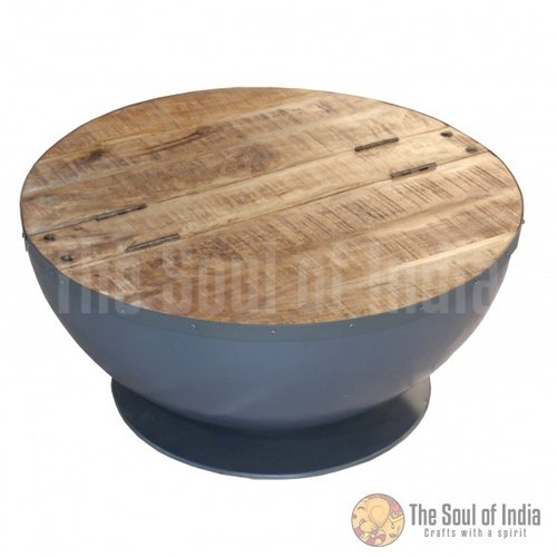 Coffee Table With Round Top 70 Cm