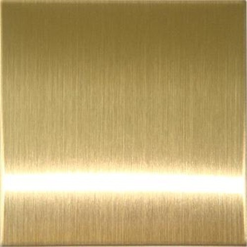 Golden Stainless Steel Gold Color Sheet Thickness 0 6