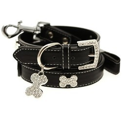 Black Collar With Lead