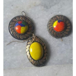Round And Elliptical Pendant Glass Beads