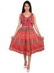 Cotton Jaipuri Printed Midi Dress