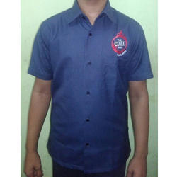 Blue Cotton Factory Worker Uniform, Size: Small