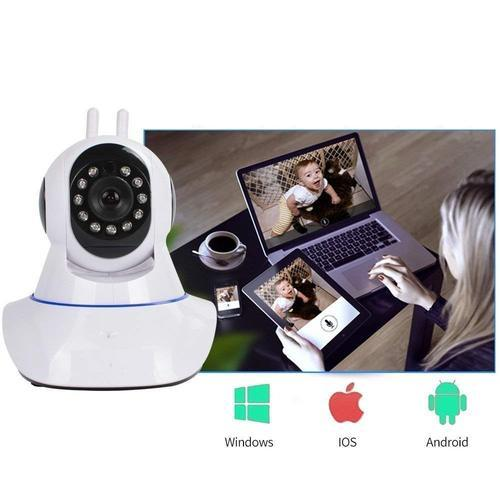 1ff5e69ae AVMART Wireless HD IP WiFi CCTV Indoor Security Camera (Supports Upto 128  GB SD Card