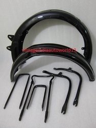 New Bsa B31b33 Plunger Model Black Painted Front And Rear Mudguards With Complete Stay Kit