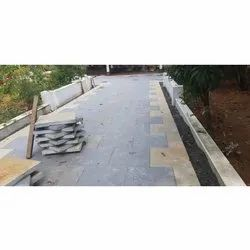 Grey Gloss Natural Flooring Lime Stone, Thickness: 40-50 mm, Size: 11*25cm