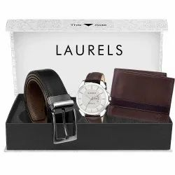 Branded Wallet Watch Belt Gift Set