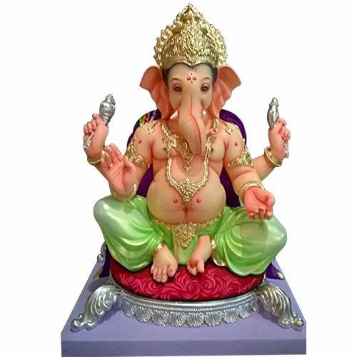 Multicolor Plaster Of Paris Ganesh Idol