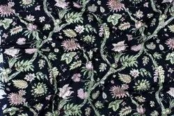 Leaf Printed Cotton Fabric For Dress Making/Home Decor, Width 45 Inches