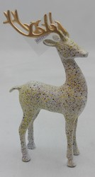 Wood Reindeer Statue, Size: 14.50 x 10.50 x 15.50 Cm