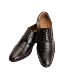 Formal Black Gents Leather Shoes, Packaging Type: Box