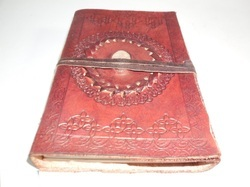 Vintage Mandala Bound Stone Leather Journal