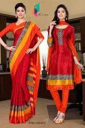 Teacher Uniform Saree And Salwar