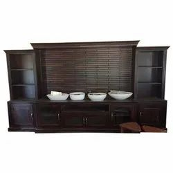 Brown Rose Wood Wooden TV Unit, For Home