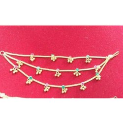 Srikant Casting Ladies Gold Anklet