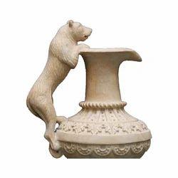 Marble Animal Garden Sculptures for Exterior Decor