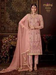 Multicolor Maisha-Zara Maskeen Anarkali Kurti, Dry Clean