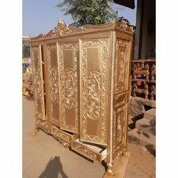 Star Enterprises Golden Royal Wooden Wardrobe, Warranty: 5 Year, Number Of Doors: 4