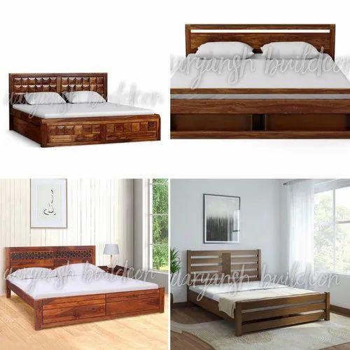 Sheesham Modern Teak Bed Rs 45000 Set