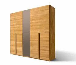 Modern Wooden Wardrobe, Height: 5 to 8 feet
