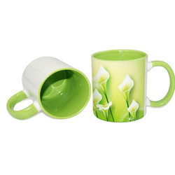 11oz Inner Rim  Lt. Green Color Mug