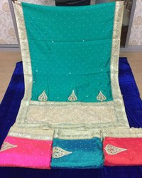 Silk Embroidery Jaal Sarees