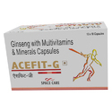 Acefit-g Ginseng With Multivitamins And Minerals Capsules, Packaging Type: Box