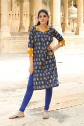 Cotton Straight Casual Pattern Kurtis