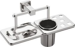 Zolon Stainless Steel ZG-1208 Soap Dish And Tumbler Holder, Material Grade: SS202
