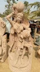 Red Garden Sand Stone Statues, for Interior Decor