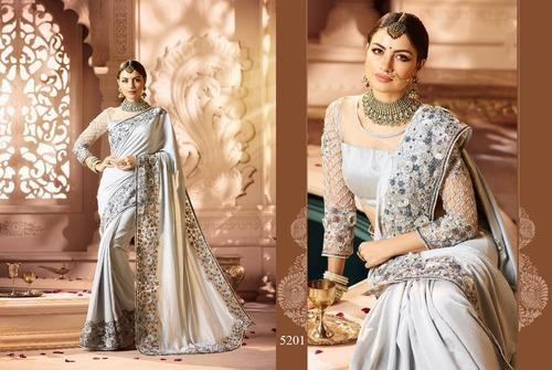 5b41be531f0ffc Banglory Silk Heavy Designer Party Wear Saree, Rs 3625 /piece | ID ...