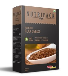 Nutripack Roasted Flax Seeds, Packaging Size: 100g, Packaging Type: Box