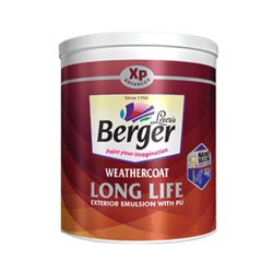 High Gloss Berger Exterior Emulsion PU Paint, Packaging Size: 1 L
