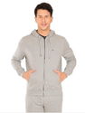 Jockey Grey Melange Zip Thru Hoodie Jacket