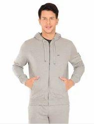 Gray Men Jockey Grey Melange Zip Thru Hoodie Jacket
