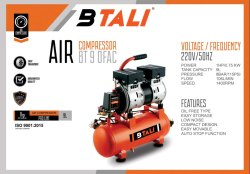 Oil Free Air Compressor BT 9 OFAC Btali
