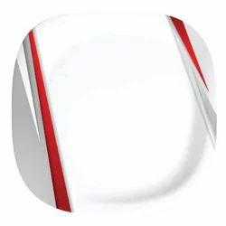 classic square melamine plate