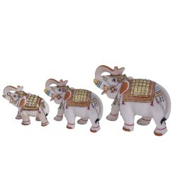 Marble Elephant Family Set