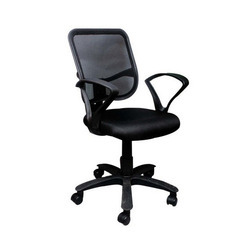 Adjustable Height Black Net Back Executive Chair