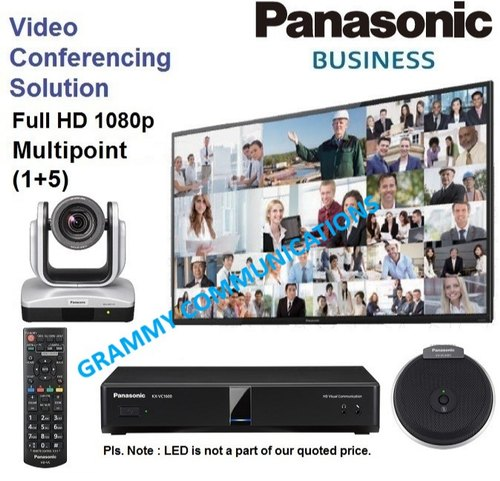 Panasonic Video Conferencing System : Multipoint 6 Sites Connection With  12x Optical Zoom