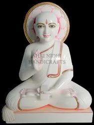 White Marble Gautam Swami Status