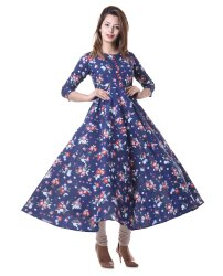 Yash Gallery Women's Cotton Floral Print Anarkali Kurta