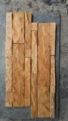 Teak Rockface Ledge Stone Panel