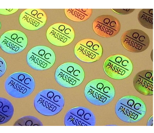 Spick global clear checked holographic labels size 12 5 mm
