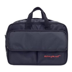 Polyester Expandable Black Laptop Side Office Bag, Capacity: 10-12L