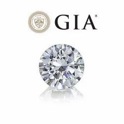 Solitaire Real Round GIA Certified Diamond