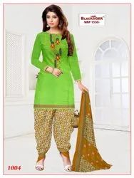 Full Cotton Embroidery Churidar Material