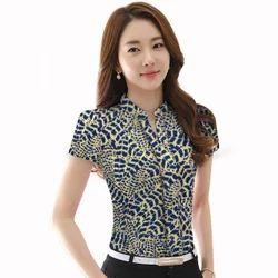 American Crepe Printed Formal Shirts for Ladies